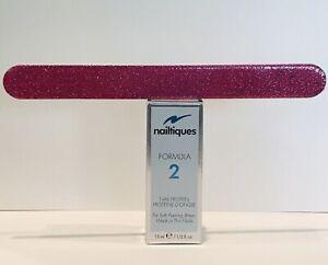 Nailtiques  FORMULA # 2 New In Box 1/2 oz  + Nail File 2 ITEMS FRESH NEW