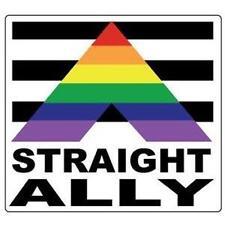 Straight Ally Gay Pride Bumper Sticker - New