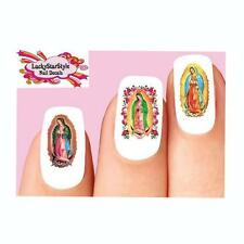 Waterslide Nail Decals Set of 20- The Virgin Mary Our Lady of Guadalupe Assorted