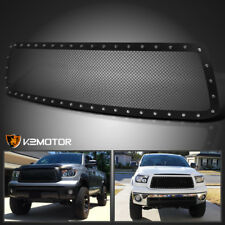 For 2010-2013 Toyota Tundra Rivet Stud Black Textured Mesh Upper Grille Insert