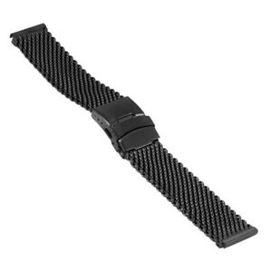 Wrist Watch Band Milanaise / Mesh, High 0 5/32in, Width 0 7/8in, Black