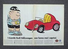 G725 - Advertising Pubblicità - 1988 - AUDI WOLKSWAGEN RICAMBI