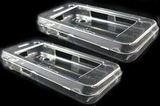 2 x cristal Clair Housse dur pour le LG KF700 UK