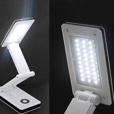 30LED Portable Foldable Rechargeable Desk Table Reading Light Lamp White