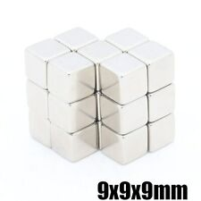 40pcs  9x9x9 mm rare earth N35 magnet strong magnet neodymium iron boron magn…