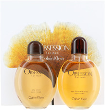 Obsession By Calvin Klein For Men Set: EDT + After Shave Lotion New