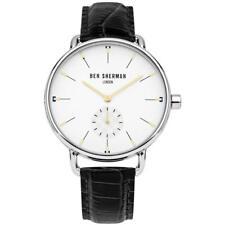 Ben Sherman WB063WB Mens Watch White Dial 41mm Black Croc Leather Watch
