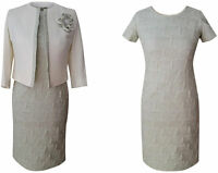 PALE GREEN MOTHER OF THE BRIDE GROOM OUTFIT 2 PIECE JACKET DRESS SIZE 12 WEDDING