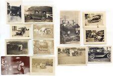 13 Snapshot Photos of Automobiles, 1910s & 1920s