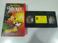 Mickey Descubre la Navidad Walt Disney - VHS Cinta Tape Español
