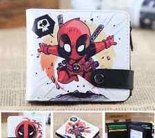 Marvel Comics X-Men Deadpool Wallet Leather Coin Purse Handbag Bifold Wallet