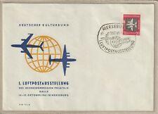 """Ersttagsbrief - """"1. Luftpostausstellung Merseburg Oktober 1961"""" Marke Luftpost"""
