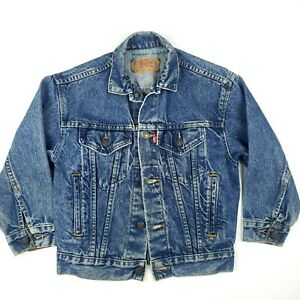 LEVIS Vintage 1980s Denim TRUCKER Jacket Made in USA 57508-0218 Size Small