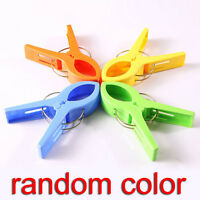New 4X Large Plastic Strong Beach Towel Pegs Clips Sun Lounger Sunbed Peg Pool