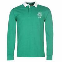 Ireland Rugby Long Sleeve Team Jersey Mens Green Fan Top Shirt Sportswear