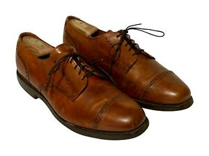 Allen Edmonds Corporate Casual Brown Men's leather Cap Toe Wingtip shoes Sz 11 D