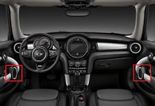 New Genuine Mini F55 Front Left Right Harman Kardon Black Speaker Covers Set FEO