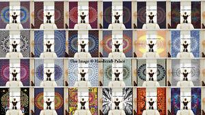 Mandala Indien Rideaux Coton Hippie Décor Tapisserie Fenêtre Tenture Murale