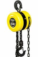 Neiko 1 Ton Chain Hoist 2 Hooks | Manual Chain Block 15 Foot Lift