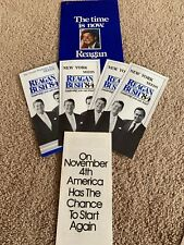 RONALD REAGAN and GEORGE BUSH 1984 Lot Of New York Campaign Ads