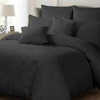 Ashton Charcoal Quilted Duvet   Doona Quilt Cover Set by Georges Fine Linens