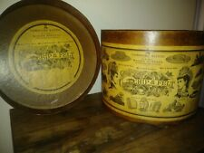 Large Antique Victorian Hat Box 19th Century Advertising