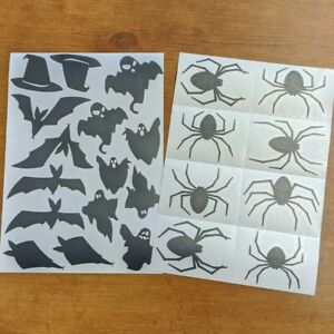 Assorted Halloween Stickers - Sheet of 23 - Wall & Window Decor for Parties
