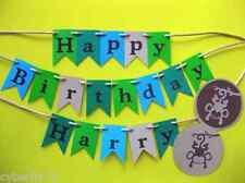 Personalised Cake Bunting Cake Topper, Jungle or Monkey themed
