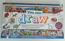 You Can Draw Kit 24 Pencils Erasers 2 x 96 Page Book Kids Activity Fun Learn New