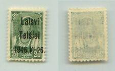 Lithuania 1941 SC LT4 MNH 46 instead 41 Telsiai . f3249