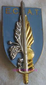 IN13388 - INSIGNE Ecole du Commissariat de l'Armée de Terre, fond gris bleu
