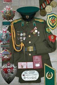 Uniform Border Troops PETTY OFFICER KGB Soviet Russian Army USSR badges Original