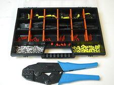 12 x AMP Superseal Stecker Set 3-polig + Crimpzange, Box Auto Motorrad