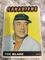 Topps Hockey 1965-66 Toe Blake Montreal Canadiens coach card # 1 Ref 220