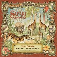 Graphic 45 SAFARI ADVENTURE 12 Sheets 12x12 Paper Collection Set Jungle Giraffe