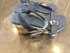 Stuart Weitzman New & Genuine Girls Blue Denim Sandals UK 12, EU 31 With Logo