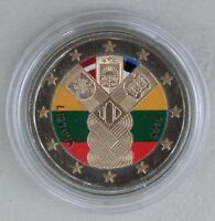 2 Euro Litauen 2018 100 Jahre Unabhängigkeit in Farbe unz.