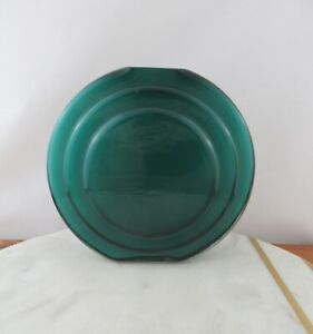 West Elm Retro Art Deco Encased Glass 15cm Vase in Teal