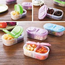 4x alimentos claros nevera cajas de almacenamiento contenedor + multicolor tapas