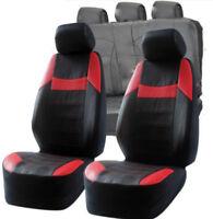 Subaru Impreza Universal Black & Red Pvc Leather Look Car Seat Covers Set New