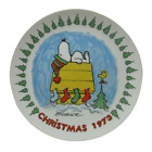 Peanuts Christmas COLLECTORS PLATE First Edition Snoopy Woodstock 1973 7.5 In