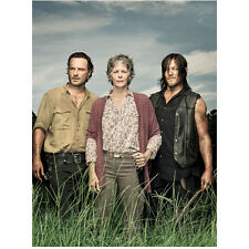 The Walking Dead Rick, Carol, and Daryl together facing field 8 x 10 Inch Photo