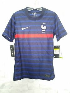 NIKE 2020-21 FRANCE YOUTH HOME JERSEY (CD1036-498) BLUE-WHITE-RED