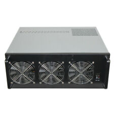 6 GPU Mining Rig Case 4U (1650W PSU, 4GB RAM, SSD 64Gb) /! No GPUs INCLUDED /!