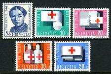 Switzerland B324-B328, MNH. Red Cross, Anna Heer, 1963