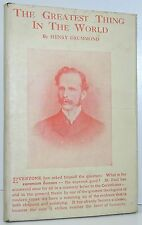 HENRY DRUMMOND The Greatest Thing In The World DUST JACKET Thomas Crowell C1930