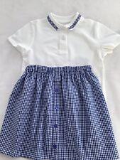 Summer School Skirt, Handmade And Matching Tshirt. 4-5 Yrs