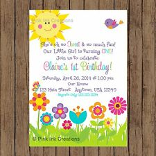 Garden Birthday Invitation / Flower Garden Invitation / Spring / Printable