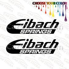 "2 x 8"" Eibach Springs car racing vinyl sticker decal"