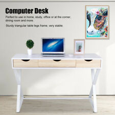 Computer Desk Office PC Laptop Table with 3 Drawers for Home Study Use Furniture